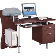 Techni Mobili Computer Desk with Storage, Brown