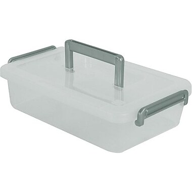 IRIS® 2.7 Quart Modular Latching Box, Clear (200143)