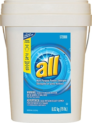 All® Multi-Purpose Powder Detergent, 19 Lbs., Pail