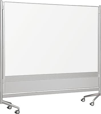 Best-Rite Mobile Dry-Erase Divider, Laminate, 6' x 6'