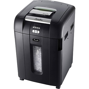 Swingline® Stack and Shred 600X Personal Cross-Cut Automatic-Feed Commercial Shredder