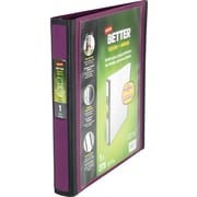Staples Better 1-Inch D 3-Ring View Binder, Plum (22158-US)
