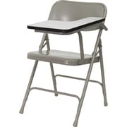 Flash Furniture Premium Steel Folding Chair, Left Handed Tablet Arm, Beige, 2/Pack