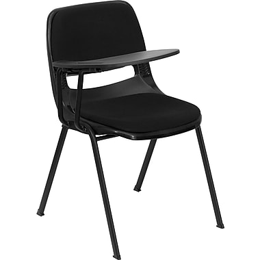 Flash Furniture RUT-EO1-01-PAD-RTAB-GG Plastic Folding Chair, Black
