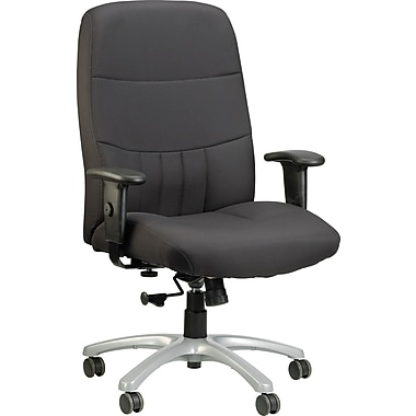 Raynor BM9000-BLK Fabric High-Back Executive Chair with Adjustable Arms, Black
