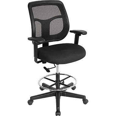Raynor Eurotech Apollo Drafting Stool, Black