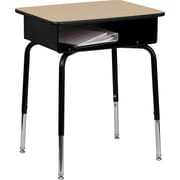 Flash Furniture 24'' Student Desk with Book Box, Natural Laminate/Black (FDDESK)