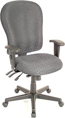 Raynor Eurotech 4 x 4 XL Fabric Ergonomic High-Back Task Chair, Fabric, Charcoal