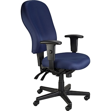 Raynor Eurotech 4 x 4 XL Fabric Ergonomic High-Back Task Chair, Fabric, Navy