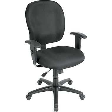 Eurotech Seating FT4547-CH ST Racer Fabric Mid-Back Task Chair with Adjustable Arms, Charcoal