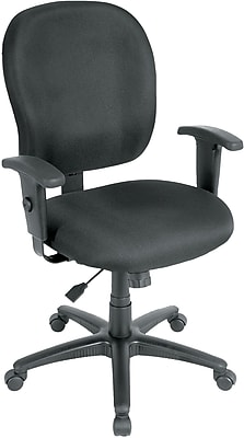 Eurotech Racer Fabric Computer and Desk Office Chair, Adjustable Arms, Black (FT4547-BLK)