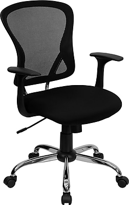 Flash Furniture Furniture Mesh Executive Office Chair, Black, Fixed Arm (H8369FBLK)