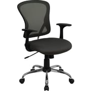 Flash Furniture Furniture Mesh Executive Office Chair, Dark Gray, Fixed Arm (H8369FDKGY)