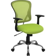 Flash Furniture Furniture Mesh Executive Office Chair, Fixed Arms, Fixed Arm (H8369FGN)