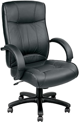 Eurotech Odyssey Leather Executive Office Chair, Fixed Arms, Black (LE9406-BLKL)