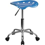 Flash Furniture Vibrant Tractor Stool, Bright Blue