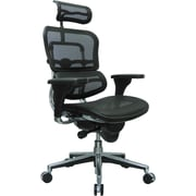 Eurotech Seating Fabric Managers Office Chair, Black, Adjustable Arm (ME7ERG(N))