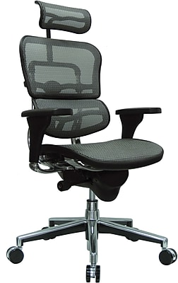 Eurotech Seating Fabric Managers Office Chair, Gray, Adjustable Arm (ME7ERG-GREY(N)