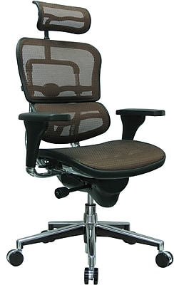 Eurotech Seating Fabric Managers Office Chair, Orange, Adjustable Arm (ME7ERG-ORG(N)