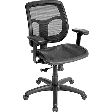 Eurotech Seating MMT9300 Apollo Mesh Mid-Back Task Chair with Adjustable Arms, Black