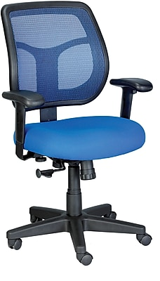 Eurotech Seating Fabric Computer and Desk Office Chair, Blue, Adjustable Arm (MT9400-BLUE)
