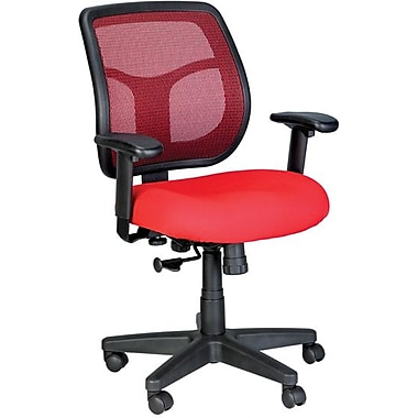 Eurotech Seating Fabric Computer and Desk Office Chair, Red, Adjustable Arm (MT9400-RED)
