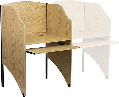 Flash Furniture Starter 32.625'' Study Carrel, Oak (MTM6201OAK)