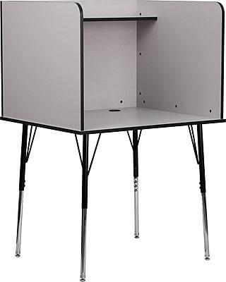 Flash Furniture 35.75'' Study Carrel, Nebula Gray (MTM6221GREY)