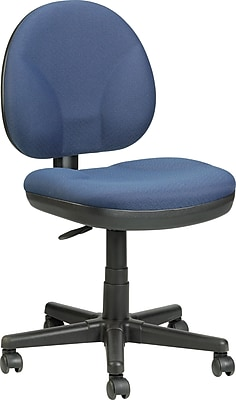 Raynor Eurotech Fabric Computer and Desk Office Chair, Armless, Blue (OSS400BU)