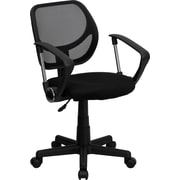 Flash Furniture Furniture Mesh Computer and Desk Office Chair, Black, Fixed Arm (WA3074BKARM)