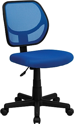 Flash Furniture Furniture Mesh Computer and Desk Office Chair, Blue, Armless Arm (WA3074BL)