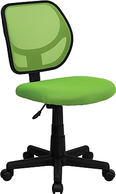 Flash Furniture Furniture Mesh Computer and Desk Office Chair, Green, Armless Arm (WA3074GN)