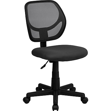 Flash Furniture WA-3074-GY-GG Mesh Mid-Back Armless Task Chair, Gray