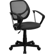 Flash Furniture Furniture Mesh Computer and Desk Office Chair, Gray, Fixed Arm (WA3074GYARM)