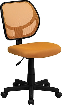 Flash Furniture Furniture Mesh Computer and Desk Office Chair, Orange, Armless Arm (WA3074OR)