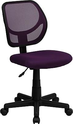 Flash Furniture Furniture Mesh Computer and Desk Office Chair, Purple, Armless Arm (WA3074PUR)