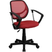 Flash Furniture Furniture Mesh Computer and Desk Office Chair, Red, Fixed Arm (WA3074RDARM)