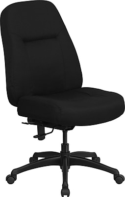 Flash Furniture HERCULES Series 400 lb. Capacity High Back Big and Tall Fabric Office Chair with Extra WIDE Seat, Black