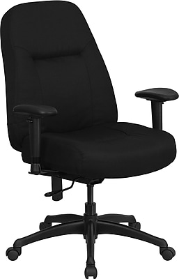 Flash Furniture HERCULES Series 400 lb. Cap. High Back Big and Tall Fabric Office Chair w/ Adjustable Arms and Wide Seat, Black