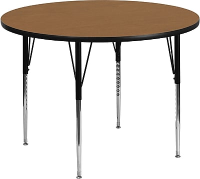 Flash Furniture 48''Lx48''D Round Activity Table, (XUA48RNDOAKTA)