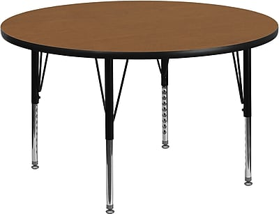 Flash Furniture 42''Lx42''D Round Activity Table, (XUA48RNDOAKTP)
