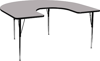 Flash Furniture 60''Lx66''D Horseshoe Activity Table, (XUA6066HRSEGYTA)