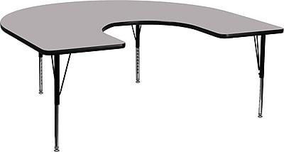Flash Furniture 60''Lx66''D Horseshoe Activity Table, (XUA6066HRSEGYTP)
