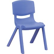 Flash Furniture Plastic Stackable School Chair with 12'' Seat Height, Blue, 4/Pack
