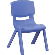 Flash Furniture Plastic Stackable School Chair with 10.5'' Seat Height, Blue, 4/Pack