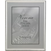 """Lawrence Frames Verona Collection 8"""" x 10"""" Metal Silver Picture Frame with Beads (11680)"""