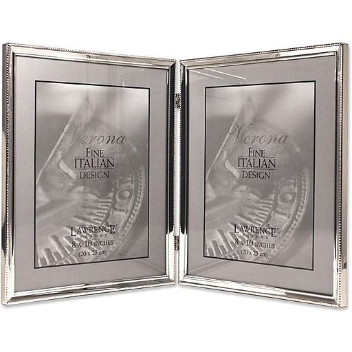Lawrence Frames Verona Collection 8 X 10 Metal Silver Hinged
