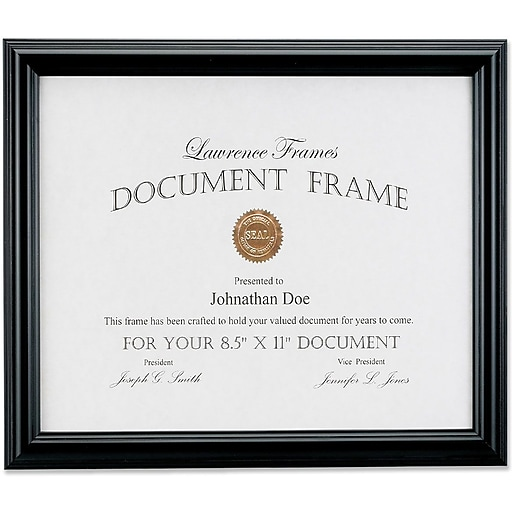 Lawrence Frames Images Collection 85 X 11 Manufactured Black Wood
