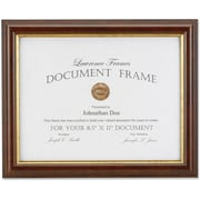 "Lawrence Frames Images Collection 8.5"" x 11"" Composite Wood Brown Document Picture Frame (185181)"