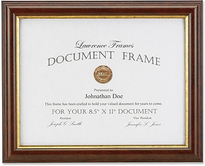 Lawrence Frames Images Collection 85 X 11 Composite Wood Brown